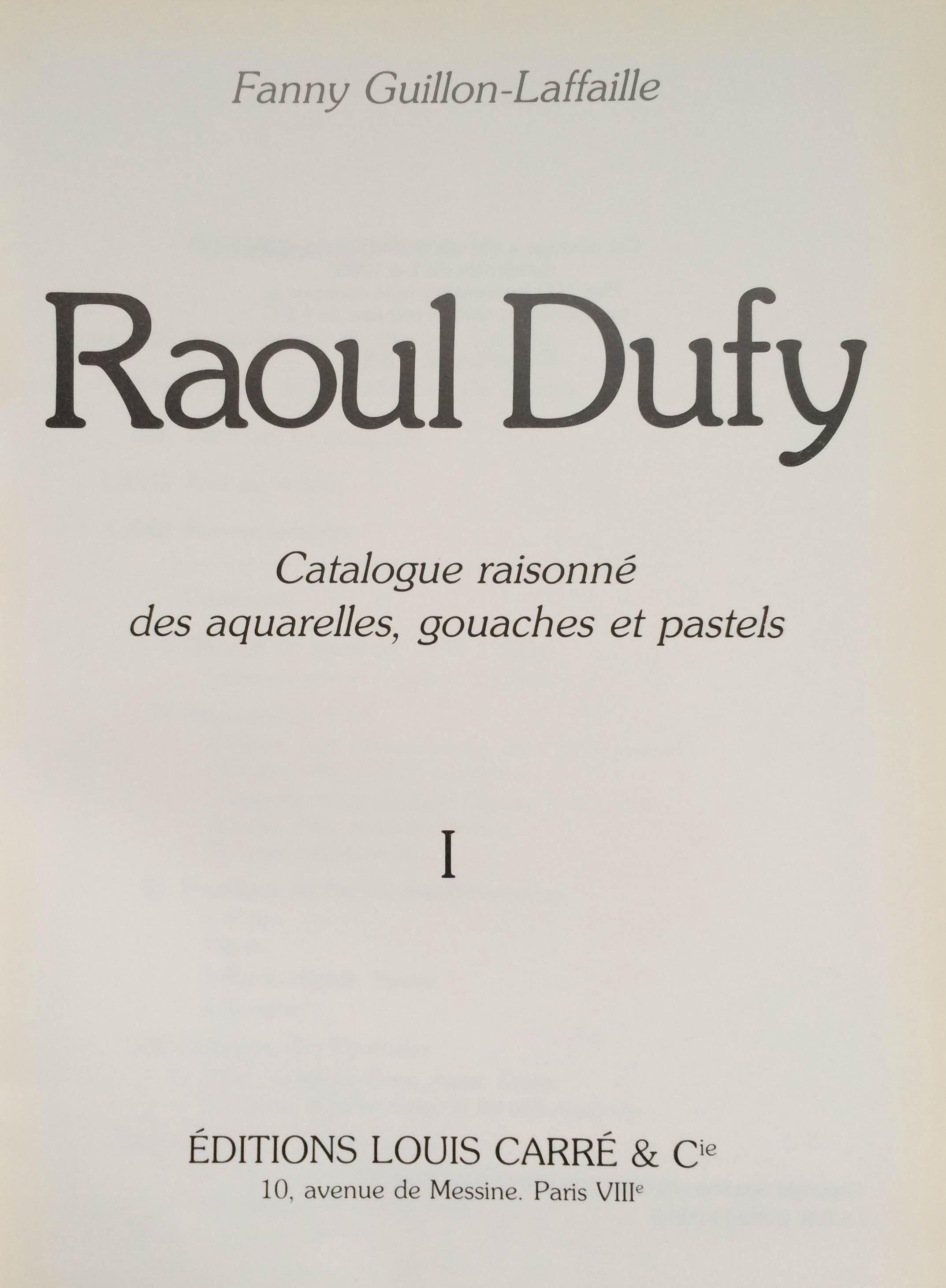 Catalogo Razonado Raoul Dufy acuarela gouache y pastel vol I y II_2