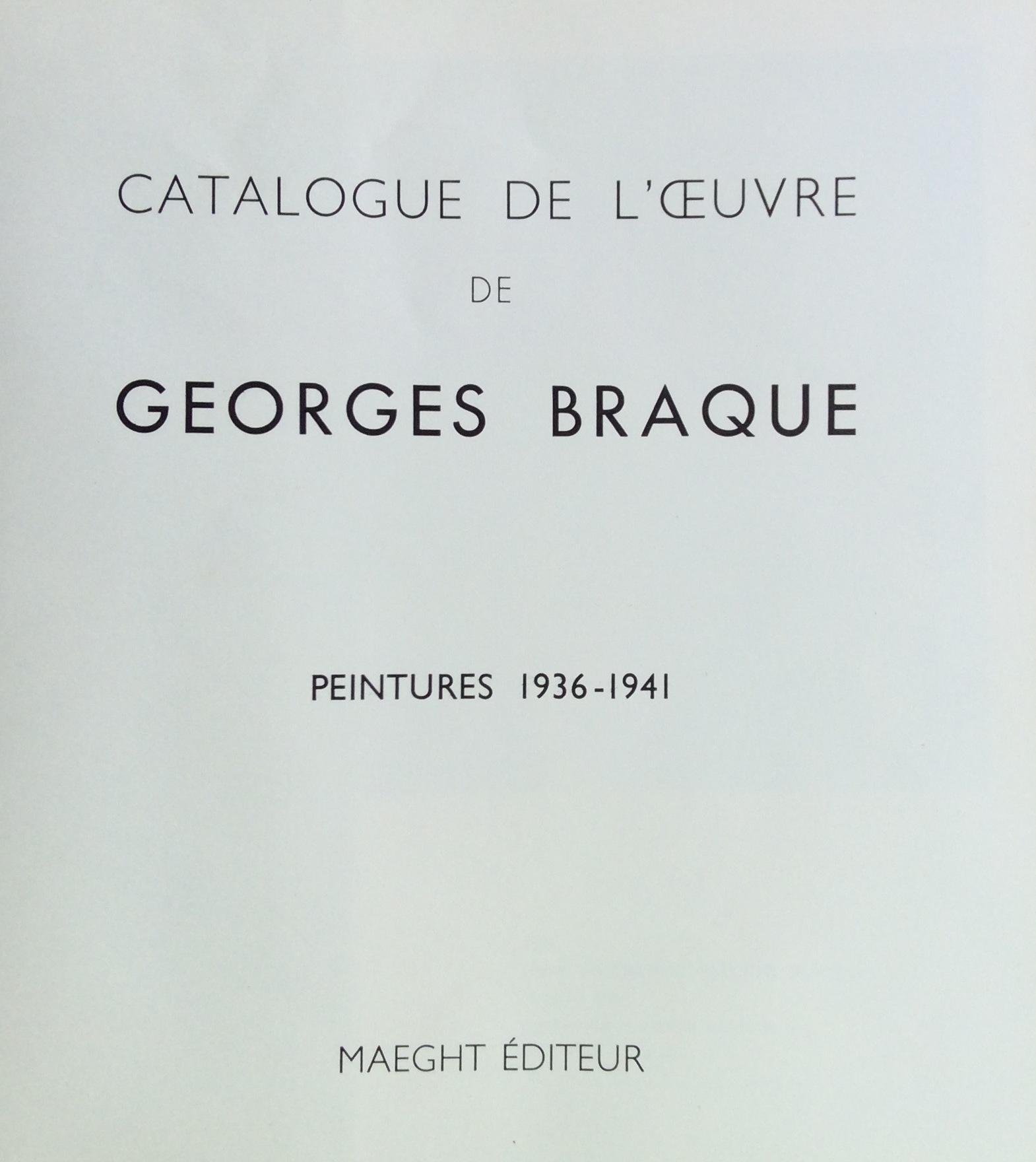 10F BRAQUE GEORGES Peintures 1936-1941