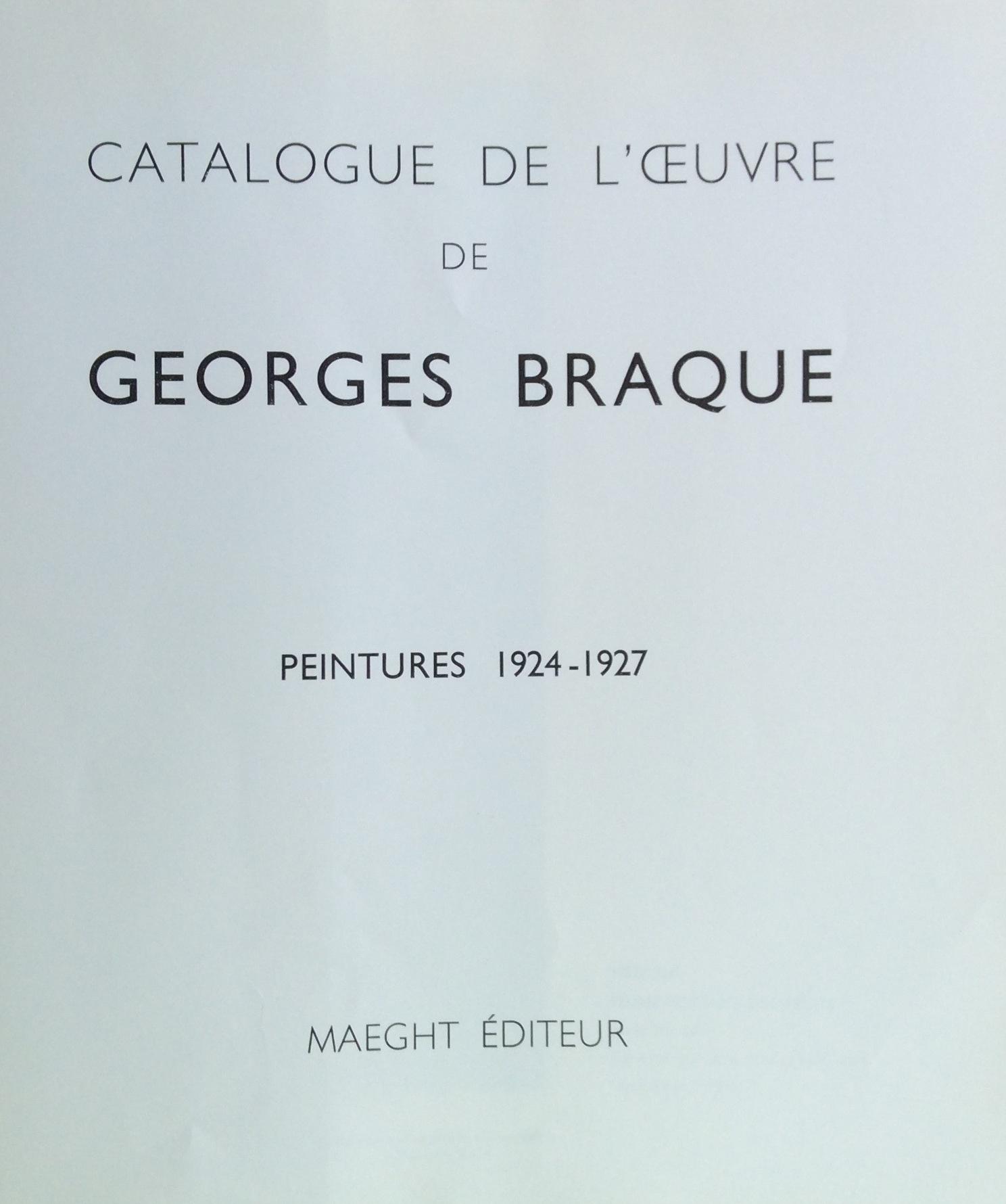 8F BRAQUE GEORGES Peintures 1924-1927