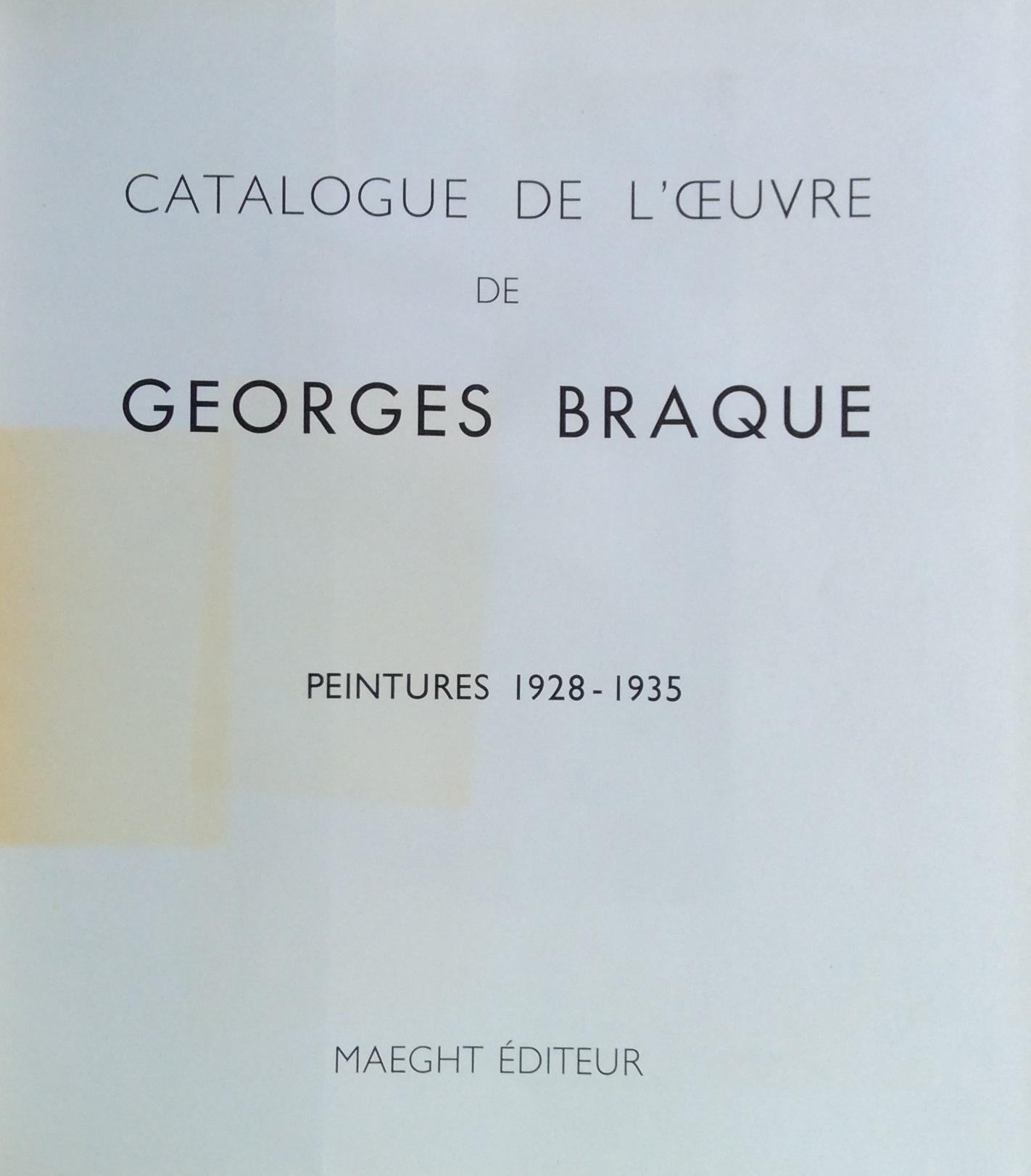 9F BRAQUE GEORGES Peintures 1928-1935